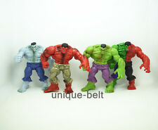Set of 4 pcs New Avengers Red Angry The Incredible Hulk PVC Action figures 4.3""