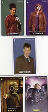 Doctor Who the Card Game 2012 c7e - 5 Art Cards; 10th Doctor, Donna, Martha etc