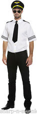 Adult Mens Sexy Airline Pilot Captain Uniform Fancy Dress Costume Outfit