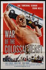 WAR OF THE COLOSSAL BEAST A.I.P. SCIENCE FICTION 1958 1-SHEET