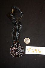 NEW Necklace ~ Large Antiqued Copper Black Enamel    AC-T246-12b