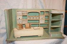 kleiner Puppenladen - Kaufmannsladen aus Holz ca. 27 x 25 x 48 cm