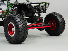 Axial Wraith, Scorpion Front ALL Metal STEERING LINK - RED