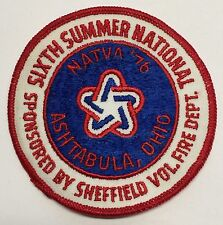 NATVA SUMMER NATIONAL CLOTH PATCH-76 ASHTABULA OH  ATTEX,HUSTLER,MAX,SCRAMBLER