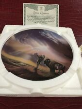 """1994 Plate  ' Prayer to the Dawn """" Plate One The Crestley Collection."""