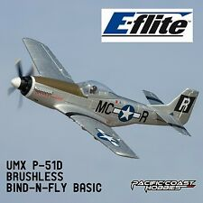 E-Flite UMX P-51D Brushless BNF Bind-N-Fly Basic Electric RC Airplane EFLU3350