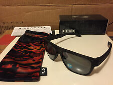 NEW Oakley Fall Out Breadbox Matte Bk Tortoise Black Iridium Polarized OO9199-17