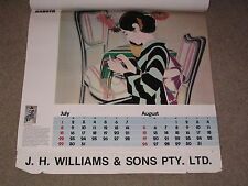 Vintage Yubi Kubota Japan 80s Calendar 1984 Machinery Maker Large Size Pictures