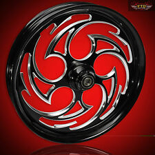 "Harley Davidson 21"" Inch Custom Front Wheel & Tire by FTD Customs ""The Predator"""