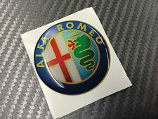 1 Adesivo Stickers ALFA ROMEO New Color 45 mm 3D resinato auto