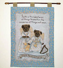 Boyds Bears Faith Angel Bears Tapestry Wall Hanging