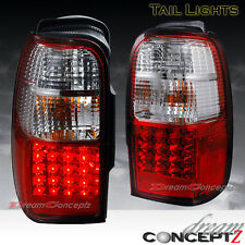 96-00 Toyota 4Runner LED tail lights lamps 2WD SR5 4WD Limited Red / Clear lens