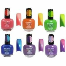 Mia Secret Mood Nail Lacquer Color Changing Nail Polish Set of 6 Brand New