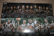 2014-15 Michigan State Spartans mens& womens basketball schedule posters MSU