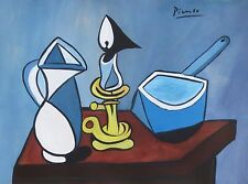 Unique tempera, gouache and ink painting, sttill life, signed Pablo Picasso