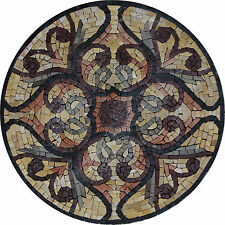 Marvelous Designed Round Medallion Marble Mosaic IN78