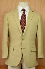 J. Crew Men's Ludlow Irish Linen Sport Coat 38S Baird McNutt Tan Jacket Blazer
