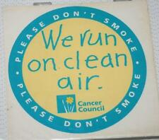 Retro Sticker -  Cancer Council - We Run of Fresh Air Please don't smoke