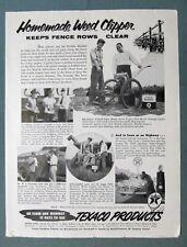 1955 Texaco Endorsement  Ad Bob Goetze South Pekin IL HOMEMADE WEED CLIPPER