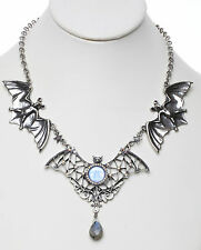 KIRKS FOLLY BEWITCHING BATS SEAVIEW MOON and LABRADORITE DROP NECKLACE sapphire