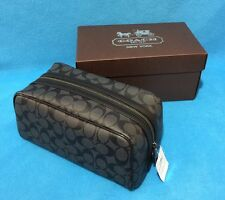 NEW Men's Coach Signature PVC  Travel Kit Case Charcoal/Black F93536 $175