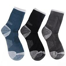 3 Pack Merino Wool Thermal Men Crew Socks Winter Hiking Comfort Outdoor