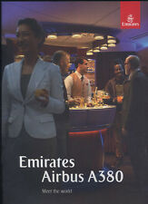 Emirates brochure Airbus A380 Airline book no poster safety card ax