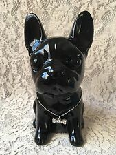 French Bulldog Pup Black Ceramic Hipster Dog Lover Urban Home Decor Frenchie NEW