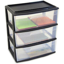 3 Drawer Wide Cart Plastic Storage Rolling Organizer Cabinet Box Home By Homz