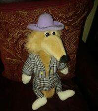"Sugarloaf 1995 Fox plush 17"" plaid suit 20 yrs. old Rare Mint claw master winner"