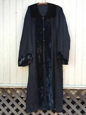 ANTIQUE WITCH CLOAK black velvet masonic occult robe odd fellows wizard kimono
