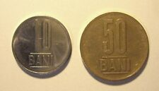 ROMANIA - 2 COINS - 10 BANI (2013) AND 50 BANI (2012)