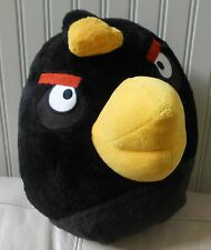 "Large Big Angry Bird Bean Bag Plush Pillow Stuffed Animal BLACK 13"" Long"