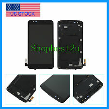Black LCD Screen + Touch Screen Digitizer +Frame For LG Tribute 5 K7 LS675 MS330