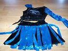 Size 7-8 American Idol Singer Black Velour Metallic Blue Dress Up Costume Skirt