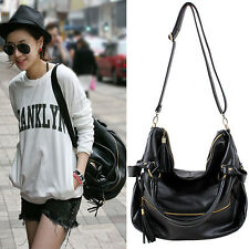 Korean Fashion Lady Hobo PU Tassel Large Shoulder Bag Leather Handbag Bags