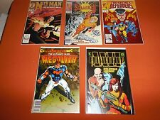 Comic Lot Five #1's *Unread/NM* (1989, Marvel) The Defenders Solarman