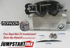 Dragon MDX Black Motocross Roll Off goggles - Rapid System - clear anti fog lens