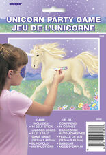 STICK THE HORN ON THE UNICORN PARTY GAME (PIN THE TAIL ON THE DONKEY) 16 PLAYERS