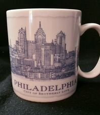 2007 Starbucks Coffee Mug Cup Philadelphia Architect Skyline Series 18 oz