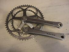 Shimano Dura-ace FC 7402 175mm bicycle crankset chainset 52 39 chain rings VGC