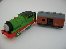 PERCY & MAIL TRUCK Motorised Battery Engine Wooden Train Track  Brio Thomas Tomy