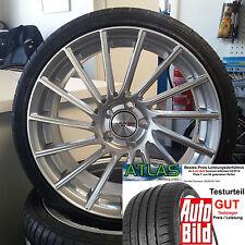"18"" Motec Tornado Silber ET30 Alufelgen 225/40 Atlas für Mercedes CLC Coupe 203C"