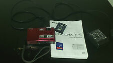 Nikon COOLPIX S70 12.1 MP Digital Camera - Red
