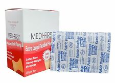 Medi-First Adhesive Bandages, Fabric Large Fingertip 175 Bandages MS-28557