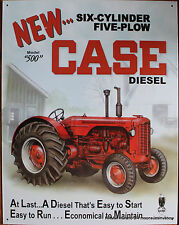 Tractor Tin Sign Case 500 Diesel Farm  Ad 6 Cyl 5 Plow Farming picture Rural USA