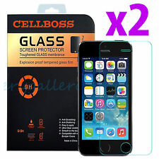 2x Premium Tempered Glass Screen Protector Film Guard for Apple iPhone 5 5C 5S