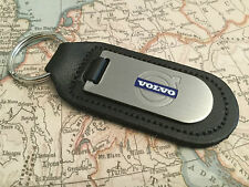 VOLVO Key Ring Etched and infilled On Leather
