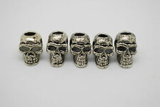 5pc Metal Skull  Paracord Lanyards Backpacks - Custom Edc Bushcraft & Survival