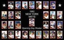 1962 New York NY Mets Opening Day Baseball Card Poster 17x11 Unique Art Decor
